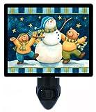 Christmas and Winter Night Light - Snow Dance - Bears and Snowman - LED NIGHT LIGHT
