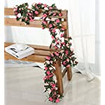 Miracliy-5-Pack-41-FT-Fake-Rose-Vine-Flowers-Plants-Artificial-Flower-Hanging-Rose-Ivy-Home-Hotel-Office-Wedding-Party-Garden-Craft-Art-Dcor-Pink