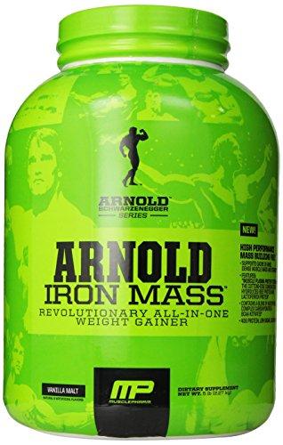 Muscle Pharm Arnold Schwarzenegger Série Iron Mass Gainer poids, Vanille Malt, 5 Pound