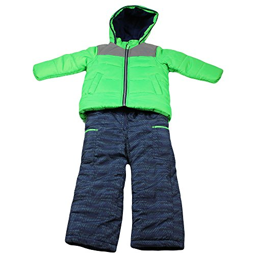 Carter's Little Boys' Heavyweight Bubble 2 Pc Snowsuit, Green, 4 (Joker Suit For Sale)