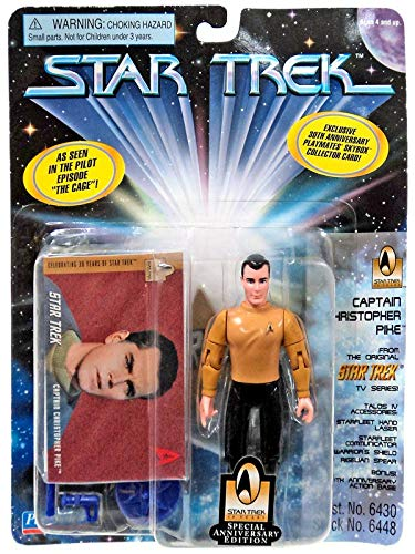 4.5 Captain Christopher Pike As Seen in the Pilot Episode The Cage Star Trek The Original Series Playmates 6448