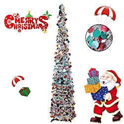 5 Foot Artificial Tinsel Xmas Tree