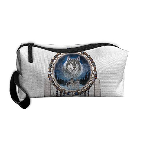 Portable Travel Storage Bags Wolf Bell Clutch Wallets Pouch Coin Purse Zipper Holder Pencil Bag,kits Medicine And Makeup Bags
