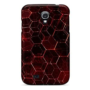 Premium Durable Red Hex Fashion Tpu Galaxy S4 Protective Case Cover