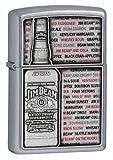 Zippo Jim Beam Emblem Street Chrome Lighter (Silver, 5 1/2 x 3 1/2-cm)