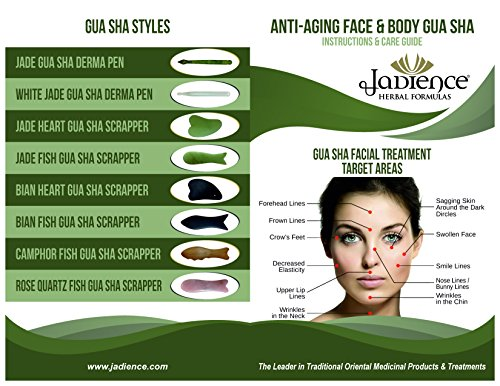 Jade Gua Sha Derma Pen Infrared Massage Therapy by Jadience: Natural Healing Stone for Scar Tissue, Facial Wrinkles, Fine Lines, Lymphatic Drainage | Chinese Acupressure Tool for Whole Body Detox by Jadience (Image #4)