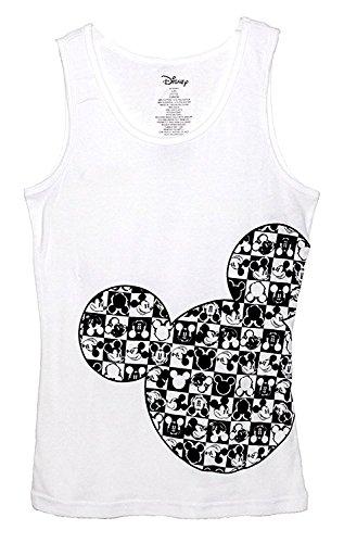 Disney Classic Mickey Mouse Junior Pajama T Shirt Tank Top - Checker Silhouette M by Disney