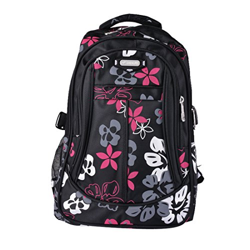 yubinyu Student School Backpack Flower Pattern Shoulders Bags Large Capacity