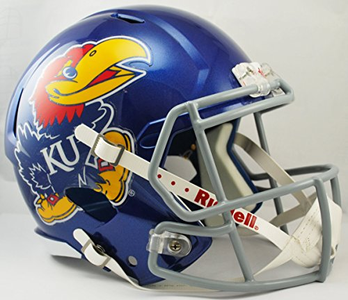 NCAA Kansas Jayhawks Full Size Speed Replica Helmet, Blue, Medium by Riddell