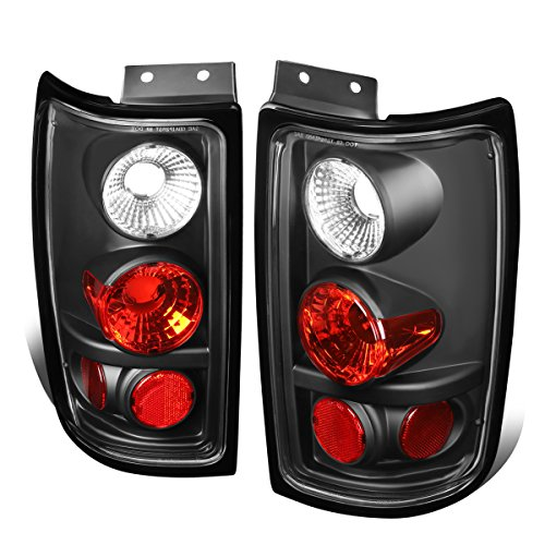 For 1997-2002 Ford Expedition Black Housing Altezza Style Tail Light Brake/Parking Lamps