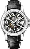 Bulova Accu Swiss 63A122 Mens Accu Swiss Black Leather Strap Watch
