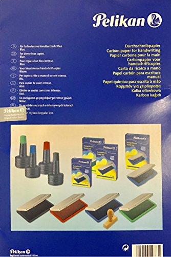 amazon com pelikan 500h blue carbon tracing paper for handwriting