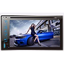 Morrivoe Bluetooth 2 Din 6.2 Inch TFT HD Touch Screen In Dash Vehicle Car Stereo MP3/MP4/DVD/VCD Player with USB/SD/AUX Input AM/FM Radio Remote Control Hands-free Calls Steering Wheel Control Black