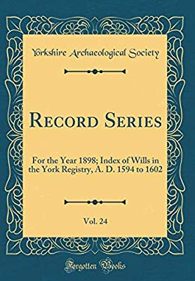 Record Series, Vol  24: For the Year 1898