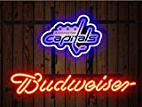 Desung Brand New 14''x10'' B udweiser Sports League W-Capitals Neon Sign (Various Sizes) Beer Bar Pub Man Cave Glass Neon Light Lamp BW82