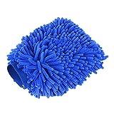 #8: YITAMOTOR Car Wash Mitt, Chenille Microfiber Car Wash Mitt Gloves Lint-Free Scratch-Free Blue