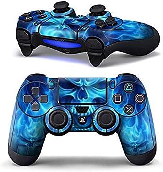 DOTBUY PS4 Controlador Diseñador Piel para Sony PlayStation 4 mando inalámbrico DualShock x 1 (Blue Fire Skull): Amazon.es: Electrónica