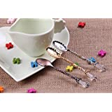 Pack of 6 BeautyMood Retro Vintage Palace Style Decorative Coffee Tea Spoon Scoop Holes(Gold & Silver & Bronze)
