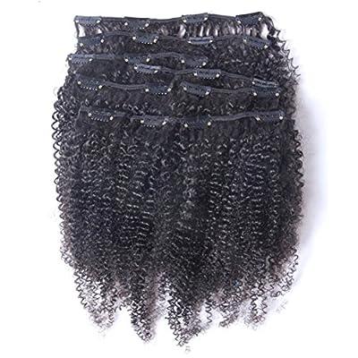 Hot Queen Clip In Human Hair Extensions Virgin Brazilian Hair Afro Kinky Curly Human Hair Clip Ins Full Head 70g-200g 7Pcs-10Pcs