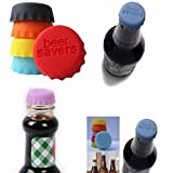 6pcs Home Reusable Silicone Wine Beer Keep Fresh Bottle Cap Sealer Cover Stopper