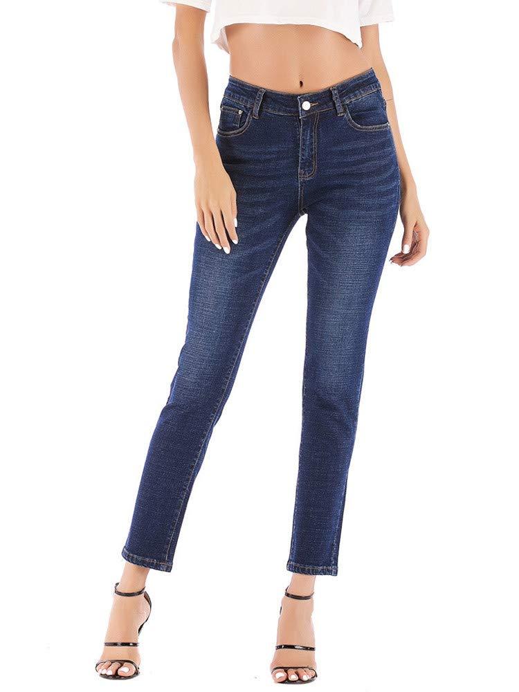 Womens Plus Size Classic Casual Trousers Legendary Stretch Bootcut Denim Jeans Pants
