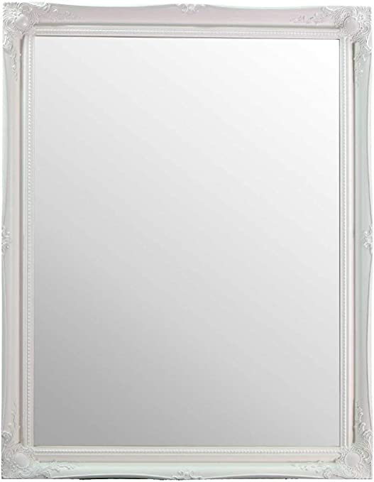 Glass Large White Ornate Antique Big Wall Mirror 4ft X 3ft 117 X 91cm 40 X 30 Amazon Co Uk Kitchen Home