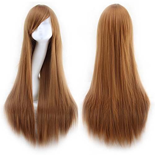 TopWigy Long Straight Cosplay Wig Synthetic Side