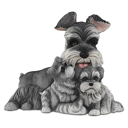 - The Bradford Exchange Schnauzer Kisses Mama Dog and Puppies Masterpiece Sculpture