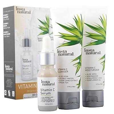 Vitamin C Skin Trio Bundle - 30 Day Starter Kit - Cleanser, Serum, Moisturizer Combo - Natural & Organic Anti Aging Face Treatment - Reduces Wrinkles, Dark Circles & Boost Collagen - InstaNatural - 4029942 , B00BB3HA4E , 454_B00BB3HA4E , 26.97 , Vitamin-C-Skin-Trio-Bundle-30-Day-Starter-Kit-Cleanser-Serum-Moisturizer-Combo-Natural-Organic-Anti-Aging-Face-Treatment-Reduces-Wrinkles-Dark-Circles-Boost-Collagen-InstaNatural-454_B00BB3HA4E , usexpr