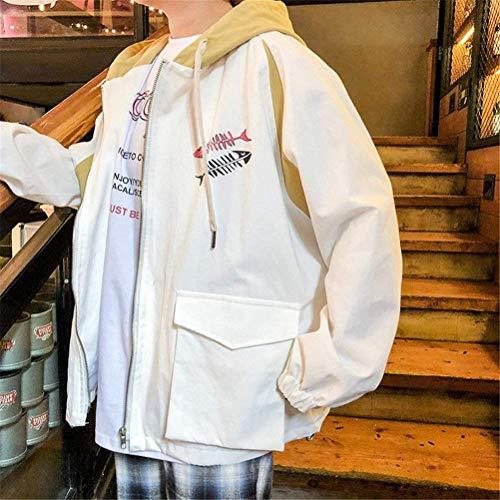 Cappuccio Primaverile Donna Lunghe Tasche Ragazze Giacca White Stampate Cappotto Harajuku Ragazza Tendenza Autunno Lannister Fashion Maniche Con Incappucciato Outerwear Giacche Eleganti Casual Yz5EPqw