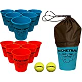 BucketBall Beach Edition - Ultimate Beach, Poolside, Backyard, Camping, Tailgate, Yard, Lawn, Outdoor Game - Perfect Outdoor Indoor Gift for Boys, Girls, Teens, Family