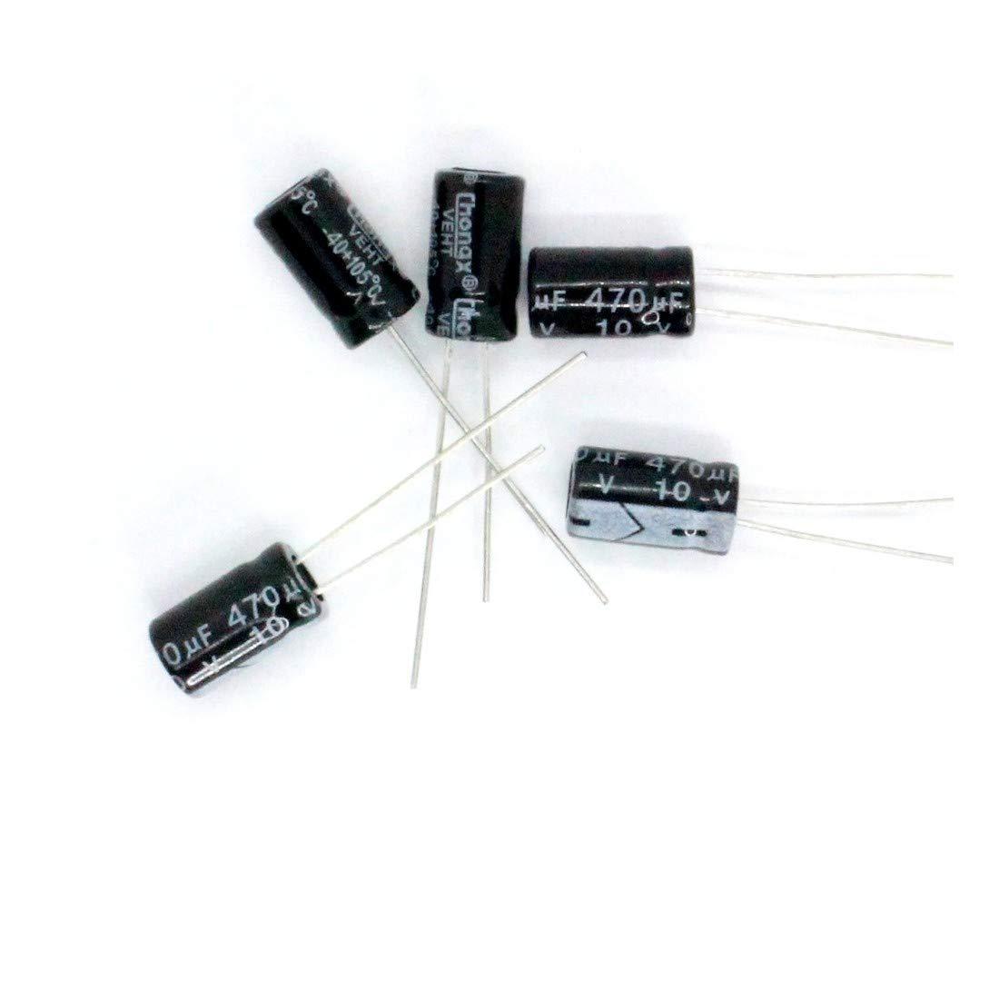 5x Condensateur chimique radial 470uF 10V 6x11mm 1con220