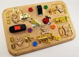 Latch board, Travel busy board, Toy for autism, Toddler busy toys, Mini activity board, Sensory board, Montessori kid toy, Toys for twins