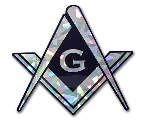(Elektroplate Masonic Square and Compasses Reflective Decal)
