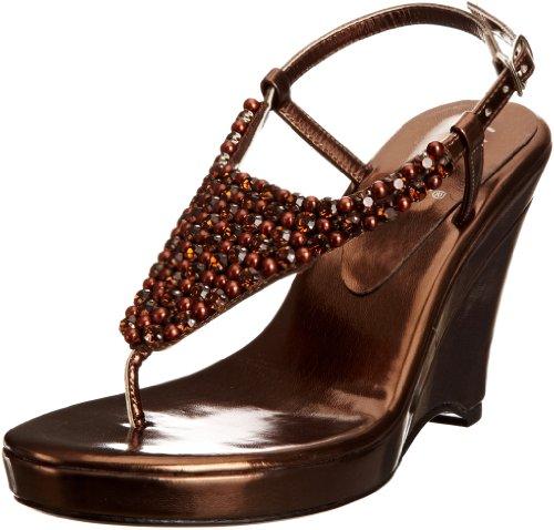 Unze Evening Sandals L18574W - Sandalias para mujer Marrón