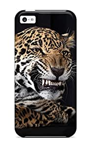 Awesome Case Cover/iphone 5c Defender Case Cover(angry Leopard)
