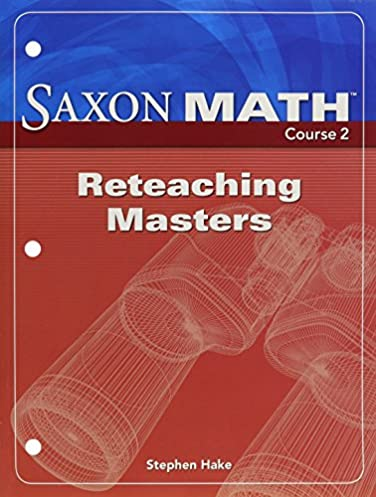 amazon com saxon math course 2 reteaching masters 9781591418665 rh amazon com Saxon Math Course 2 PDF saxon math course 2 solution manual grade 7 2007