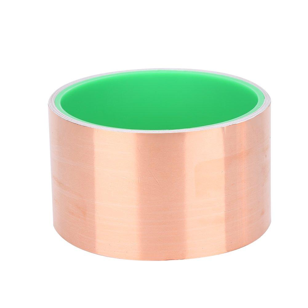 3M Guitar Copper Foil Tape Double Conductive Adhesive Tape 0.6/ 1.2/2.5/5/10/15.2 cm Width for EMI Shielding ( Size : 5cm/1.96'' )