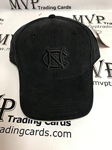 NORTH CAROLINA TAR HEELS Black Suede Adjustable Baseball Cap