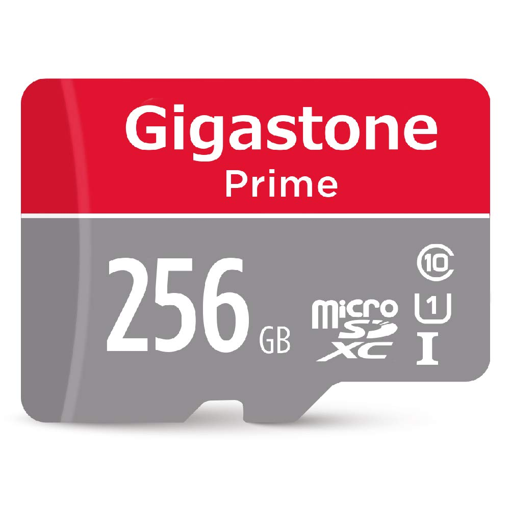 Gigastone 256GB Micro SD Card UHS-I U1 Class10 MicroSD XC Memory Card with SD Adapter High Speed Memory Card Class 10 UHS-I Full HD Video Nintendo ...
