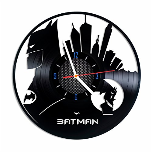 [Superhero designed vinyl clock, home vintage decor, best gift idea] (Frank Miller Batman Costume)