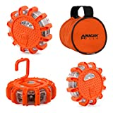 Wagan EL2639-3 Orange Pack of 3 F.R.E.D. Light Flashing Roadside Emergency Disk (3 pk)