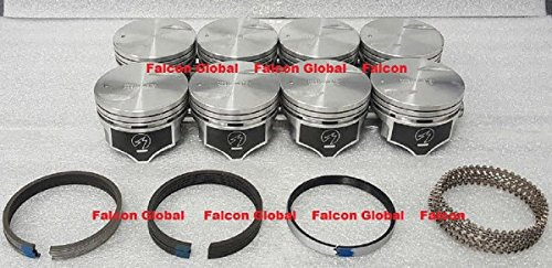 Chevy 454 Speed Pro Hypereutectic Flat Top Floater Piston+MOLY Ring Set (.060