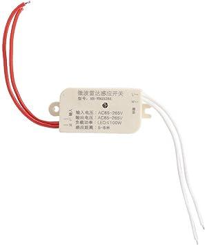 Sensor de control del interruptor, sensor de LED Interruptor de radar de microondas Interruptor del sensor de micro-movimiento de luz de escalera de 100W: Amazon.es: Bricolaje y herramientas