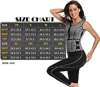 HOPLYNN Neoprene Sauna Sweat Vest, Waist Trainer Slimming Vest for Women Weight Loss with Adjustable Waist Shaper Belt Grey L from TELALEO