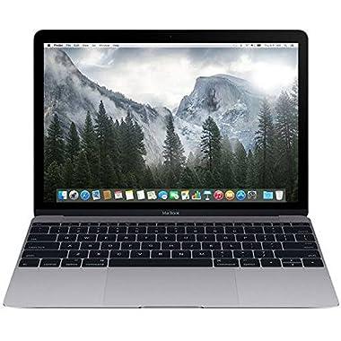 Apple Macbook Retina Display 12  Laptop (2015) - 256GB SSD, 8 GB Memory, Space Gray (Custom-Built, Brown-box Packaging)