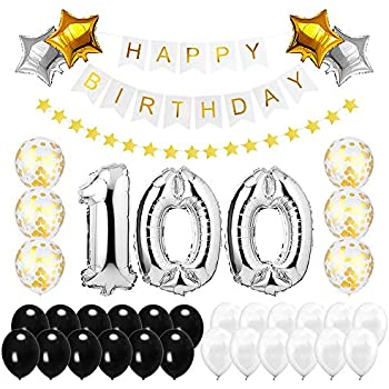Best Happy To 100th Birthday Balloons Set