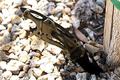 Best Spring Assisted Folding Tactical Knife - Includes Can Opener, Screwdriver, & Pocket Clip - Special Military Camo Edition - 100% Satisfaction Guaranteed!