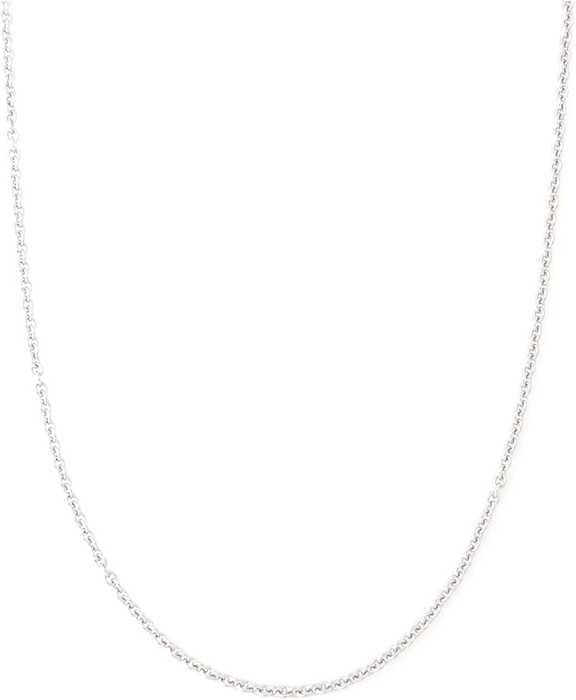 Collar de cadena de acero inoxidable de 2 mm, cadena fina de tono plateado, para collar o colgante, 40,6 a 76,2 cm