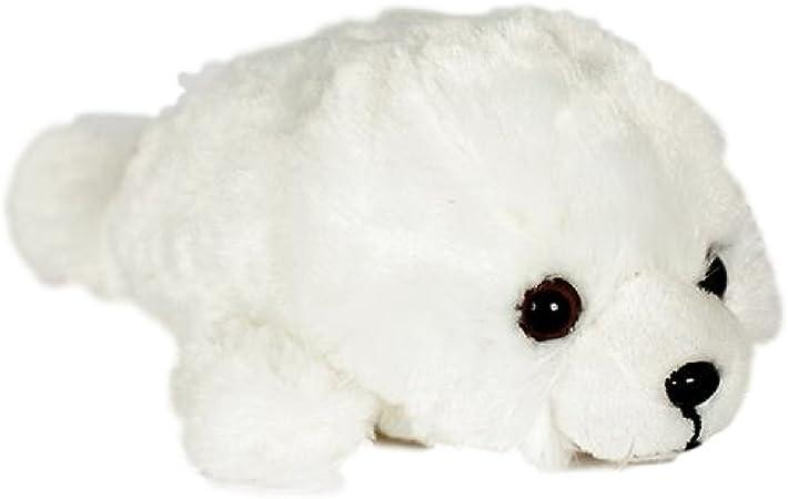 Hallmark WHITE HARP SEAL WITH KNIT MITTENS Stuffed Animal PLUSH SOFT TOY Cute
